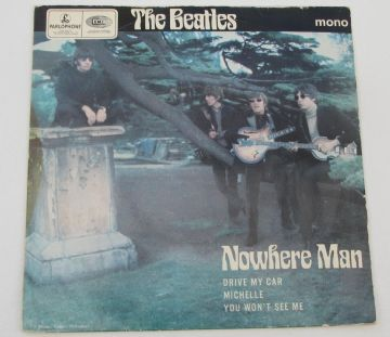 "Beatles NOWHERE MAN 1969 UK 7"" EP 2nd Press EX AUDIO"